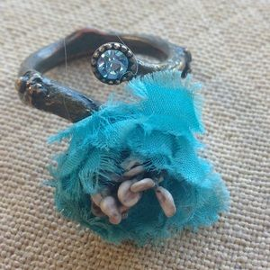 Jewelry - Bohemian Turquoise Flower Branch Ring